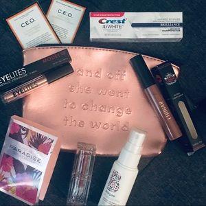 Makeup bundle with bag - Briogeo hola neon cougar